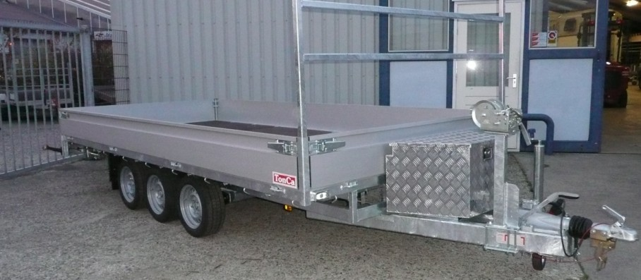 Damco TonCa tridem plateauwagen